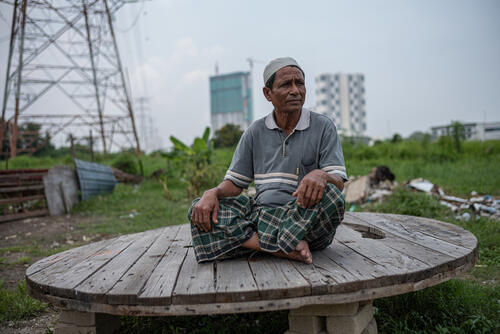 Shor, a Rohingya refugee living in Malaysia after fleeing from violence in 2016