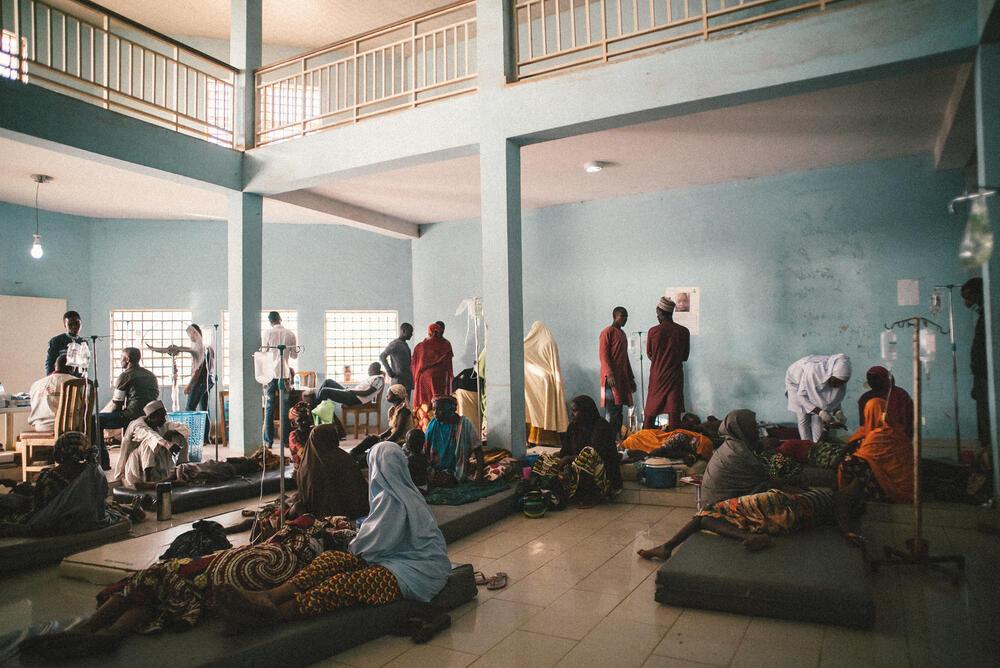 The main hall of the meningitis treatment centre run by MSF in Sokoto, Nigeria.