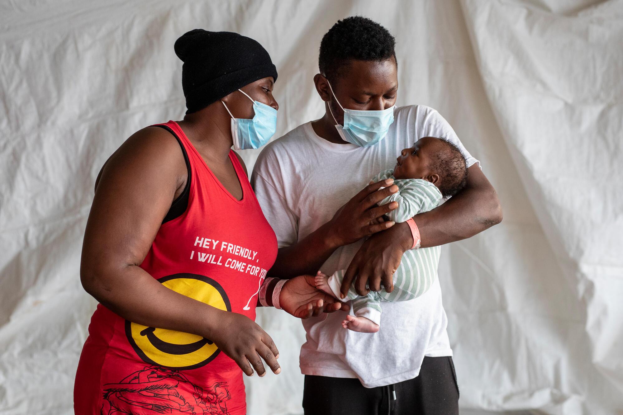 Baptiste, Sophie and baby Bienvenu