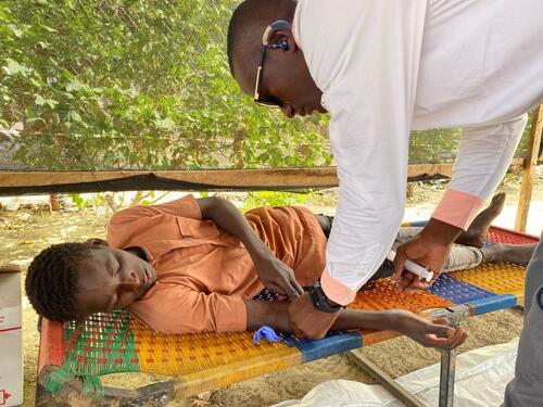 Malaria treatment campaign in Diffa, Nigeria