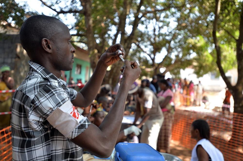 An MSF team member in Conakry, Guinea