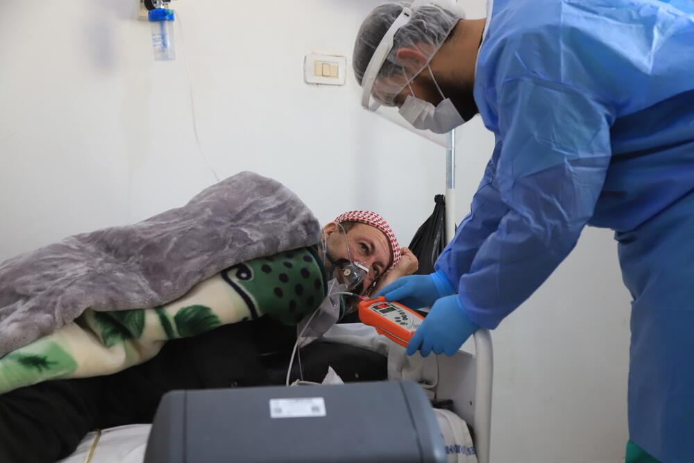 Syria: Patient numbers rise at an MSF-supported COVID-19 treatment centre