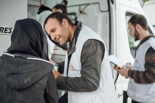 Tamim Elnaggar, an MSF Cultural mediator in Lesvos