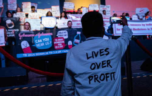 50th Union World Conference on Lung Health - Protest