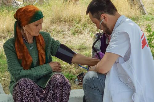 MSF mobile medical team in Batken region, Kyrgyzstan