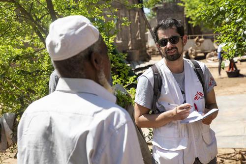 Thibaud de Chevigny, MSF Epidemiologist in Buzi, Mozambique.