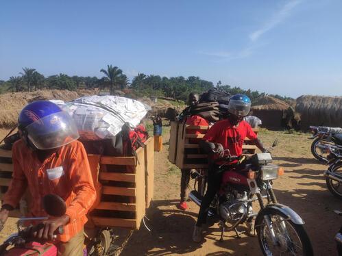 Remote mass drug campaign against malaria, Democratic Republic on Congo