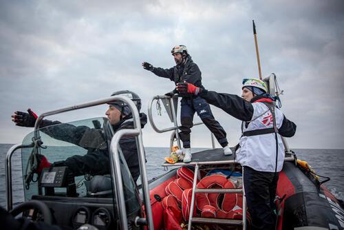 Training with SOS MEDITERRANEE – Mediterranean Sea, 15 February 2020