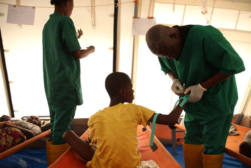Cholera intervention in Kinshasa