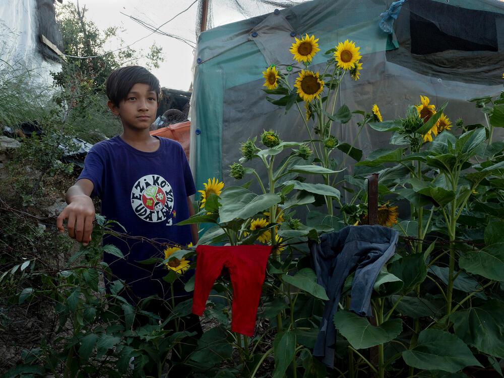 Yasin, 9 year-old boy in Moria