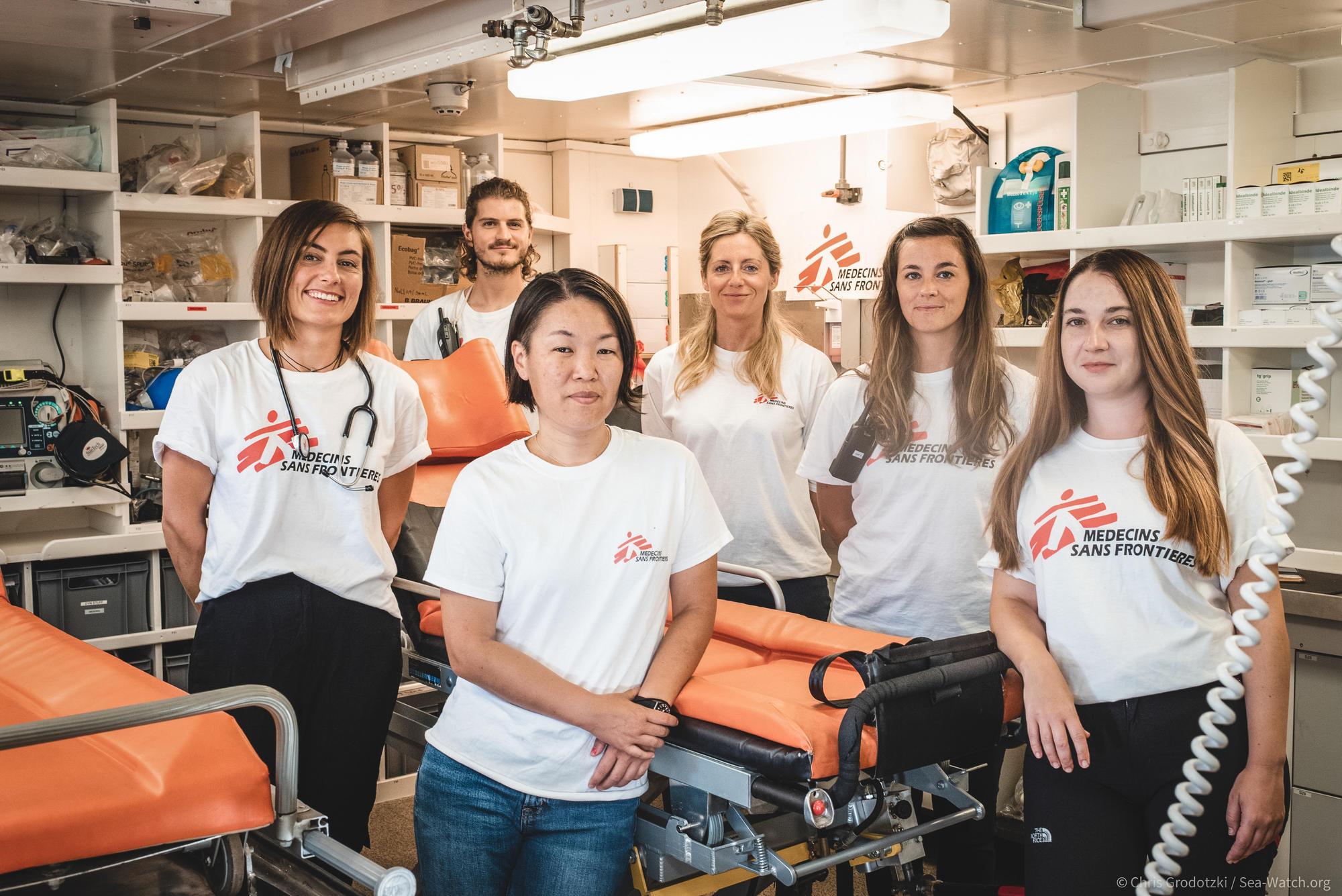 MSF crew on board Sea-Watch 4
