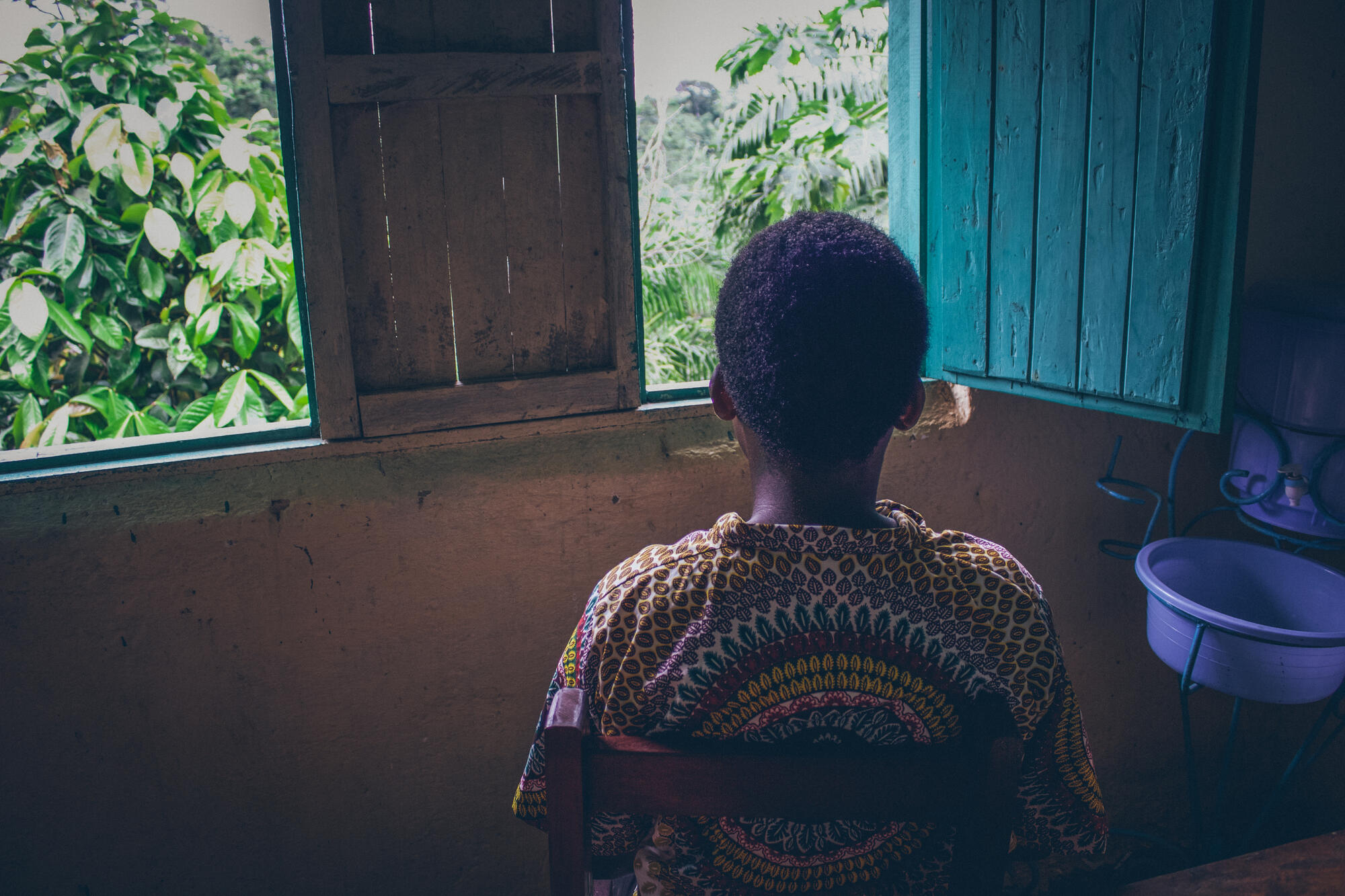 An 18-year-old patient who came to an MSF-supported hospital in Kigulube, DRC, for safe abortion care