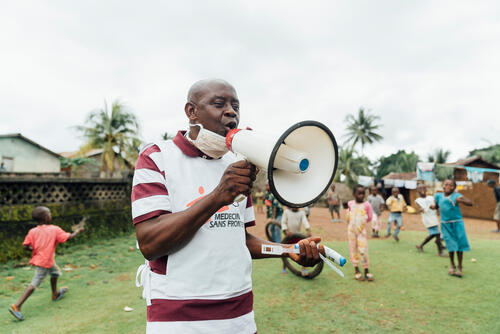 Sahr Abdulai Surkity, MSF health promoter