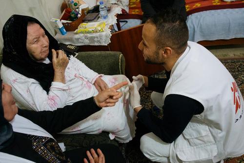 Home-based care in Burj el-Barajneh refugee camp, Beirut.