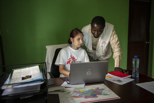 Project Coordinator Simona Onidi and Dr. Kelechi Medical Team Leader - Benue Intervention