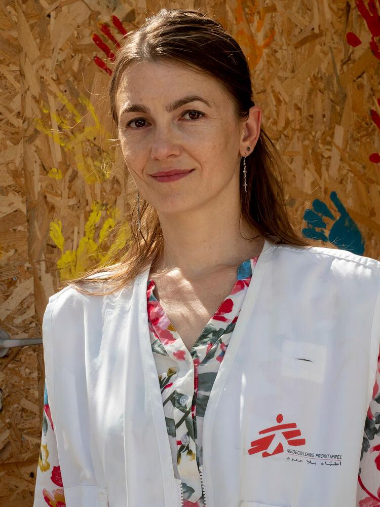 Katerina Srahulkova, child psychologist in Moria