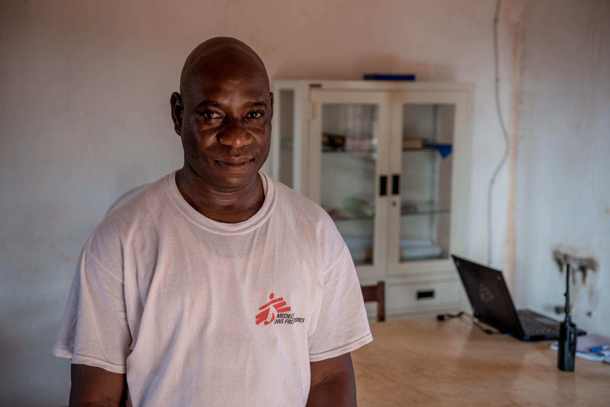 Mamane Bassirou, MSF field finance manager in Bangassou, Central African Republic