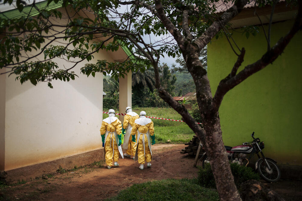 Decontamination activities in Kalunguta health zone, North Kivu province, DRC