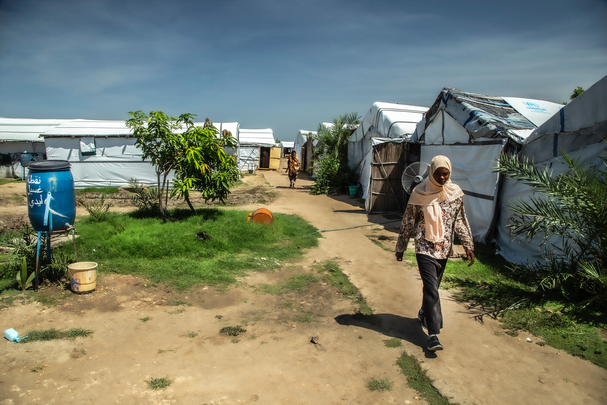 Al Kashafa refugee camp, in Sudan's White Nile state