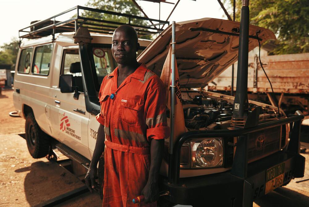Peter Deng Chol, an MSF mechanic in Doro, South Sudan.