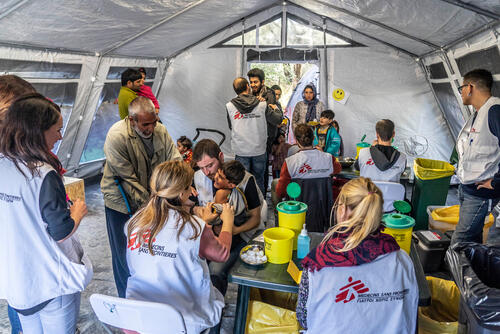 A vaccination campaign on Lesbos