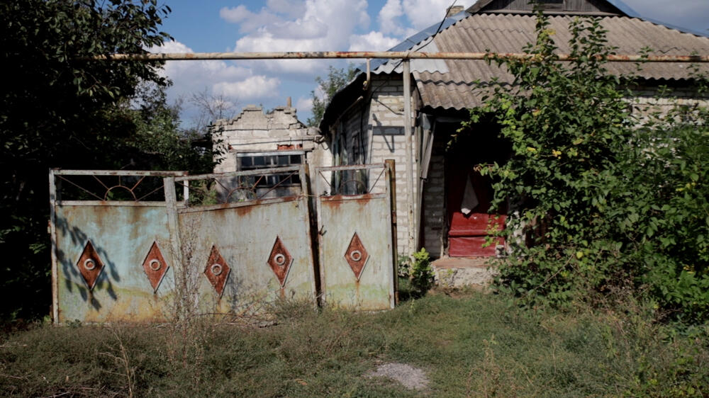 An abandoned house in one of the villages where MSF works