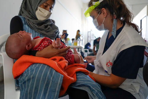 MSF emergency clinic after Moria fire