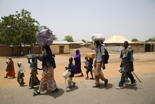 Displaced in Borno state