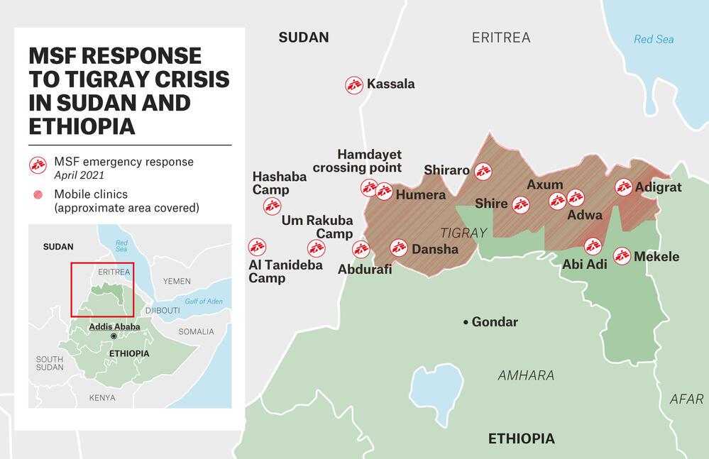 MAP - MSF Response to Tigray Crisis - APR – EN