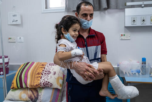 Treating child injuries in blockaded Gaza 01