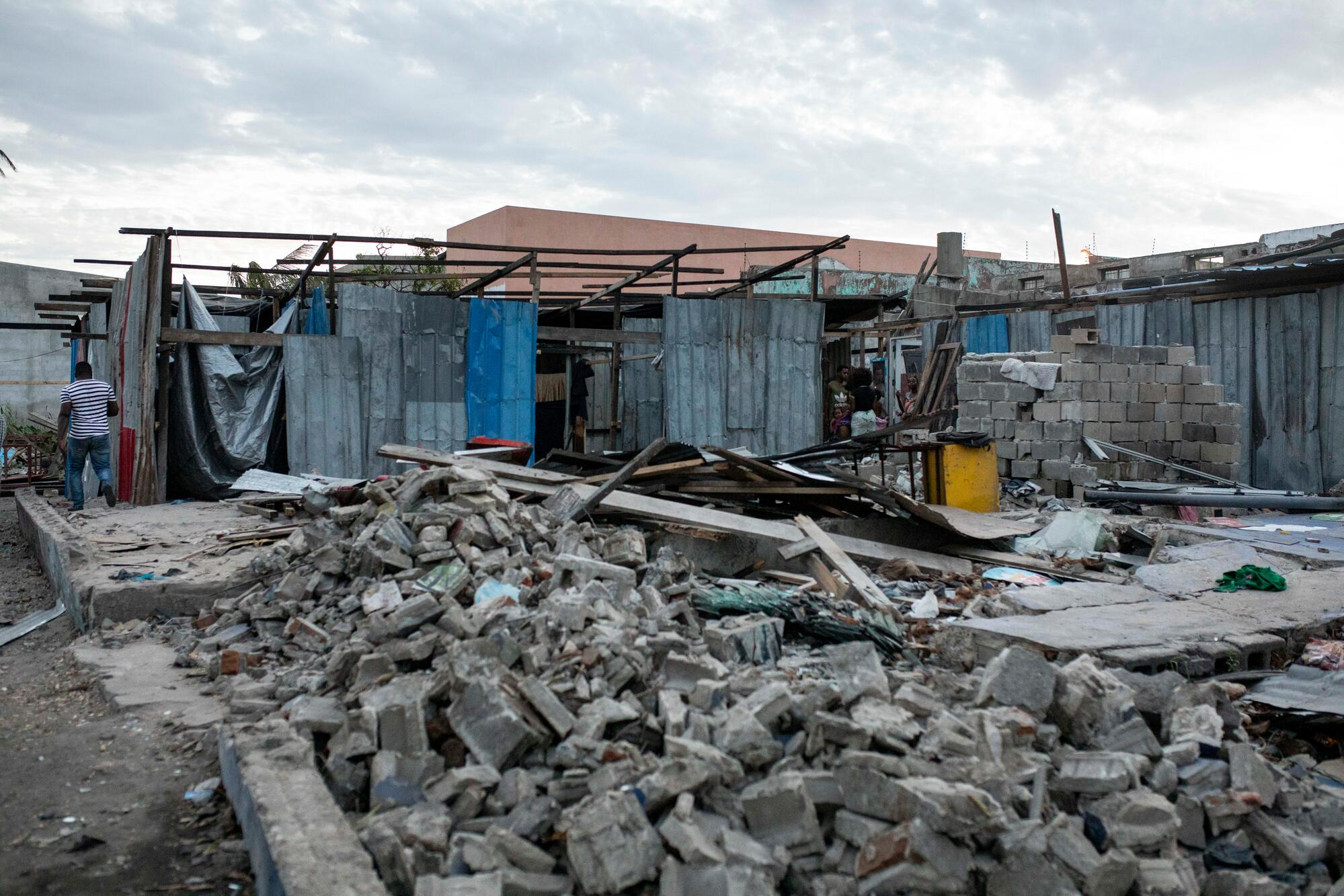 The brothel in Goto market in Beira, where MSF provides care to sex workers, was badly damaged by Cyclone Idai, meaning the sex
