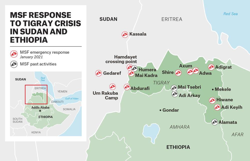 MAP - MSF Response to Tigray Crisis – EN
