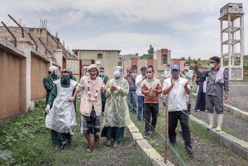 Discharged from hospital – Al-Sahul, Yemen, 8 July 2020