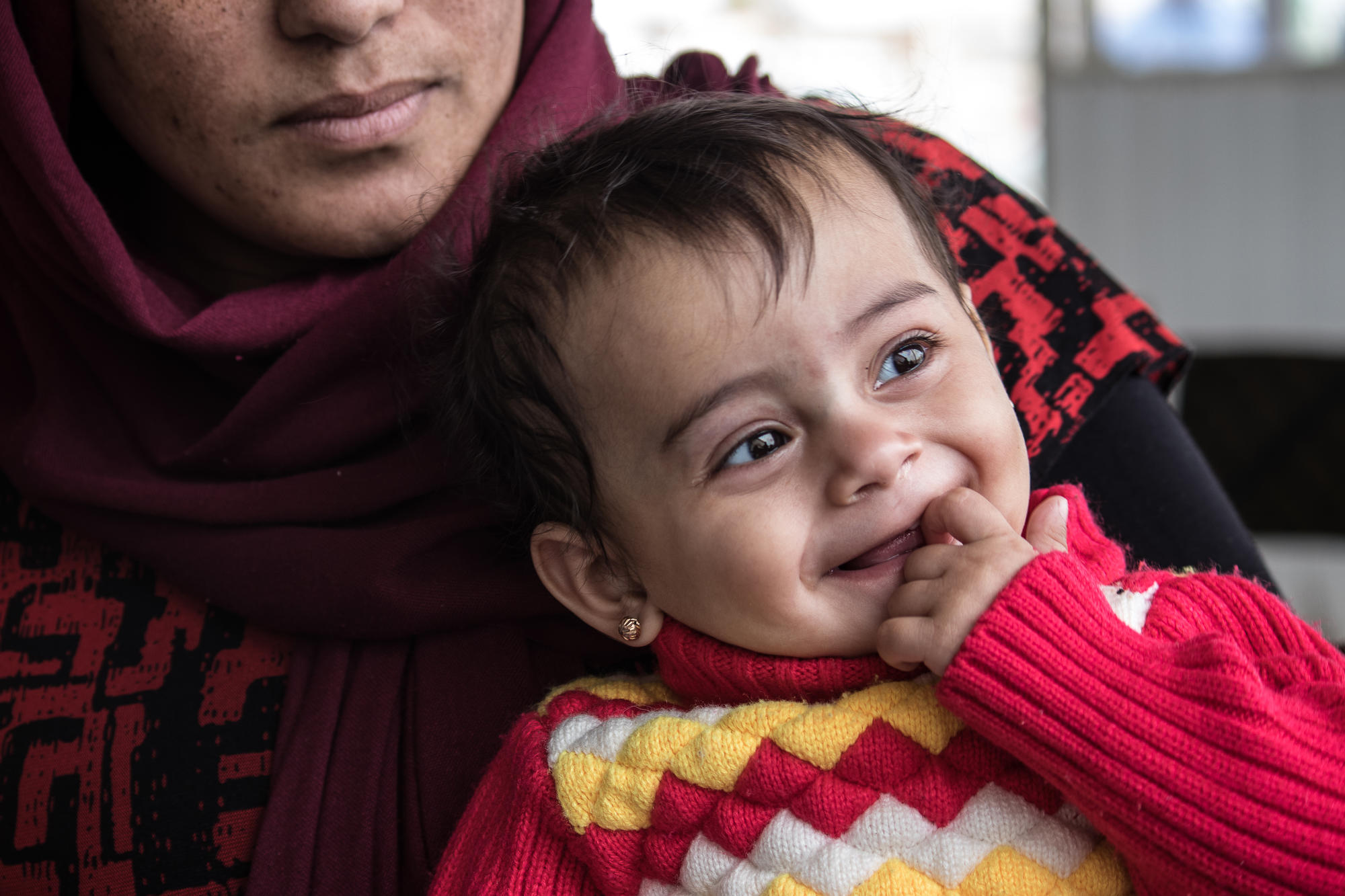 A mother and baby at MSF's maternity clinic in Iraq