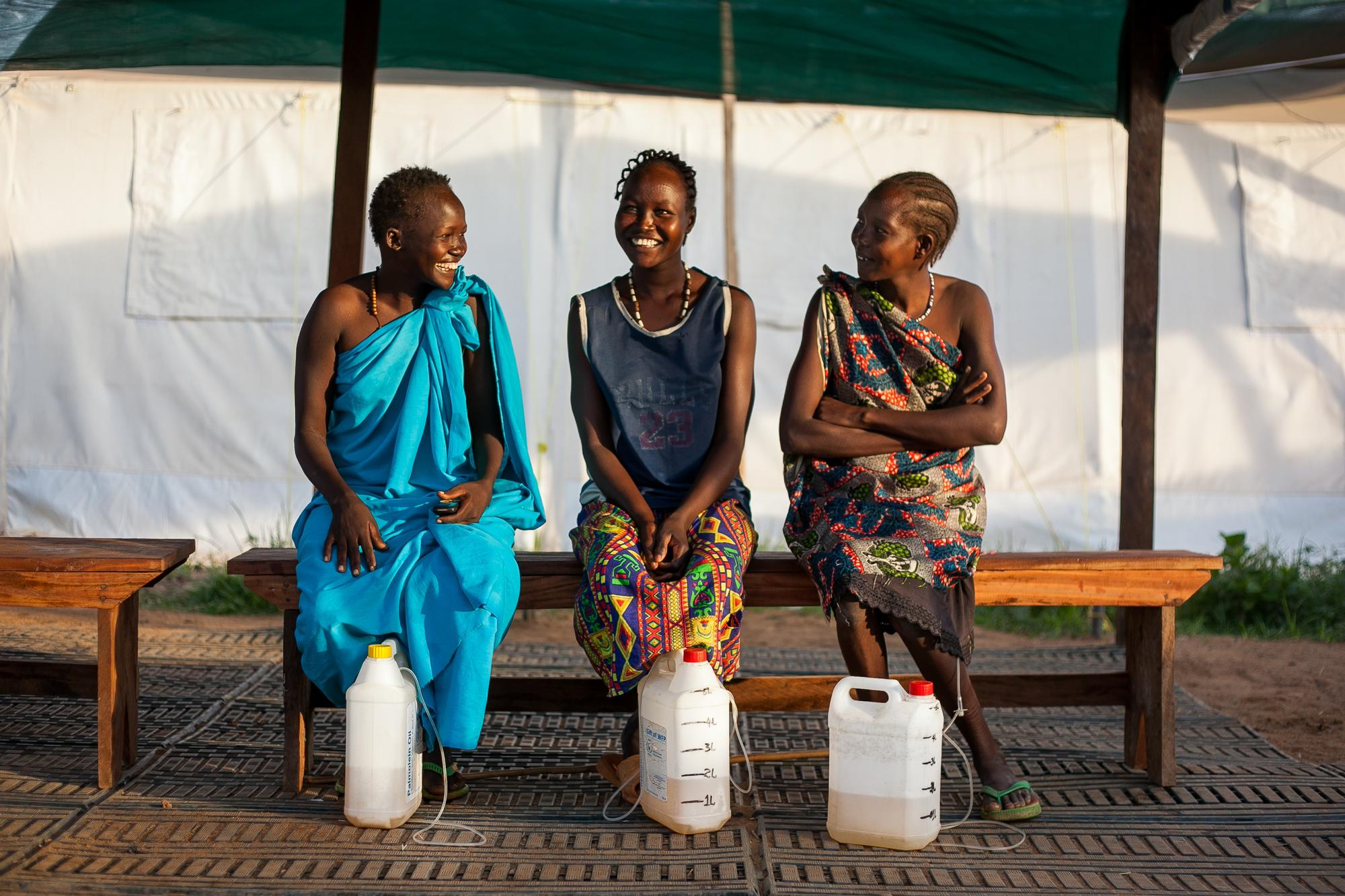 Women waiting for treatment at an MSF fistula 'camp'