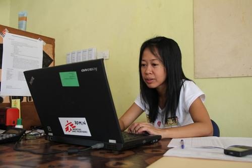 Pratiwi Sutowo, HR administrator, working in the MSF office in Kailahun, Sierra Leone.