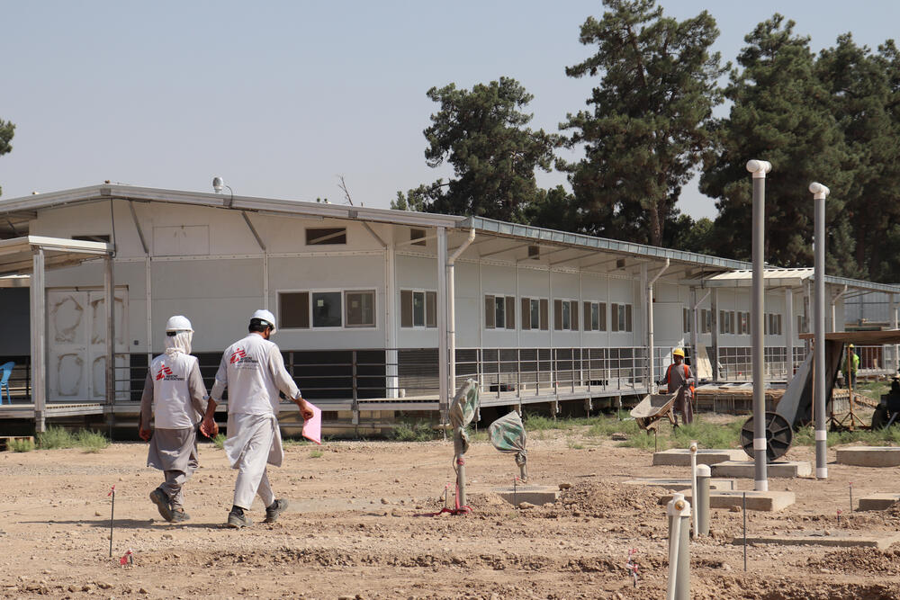 New Kunduz Hospital construction