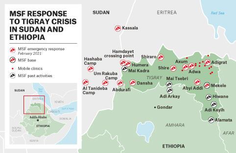 MAP - MSF Response to Tigray Crisis - FEB – EN