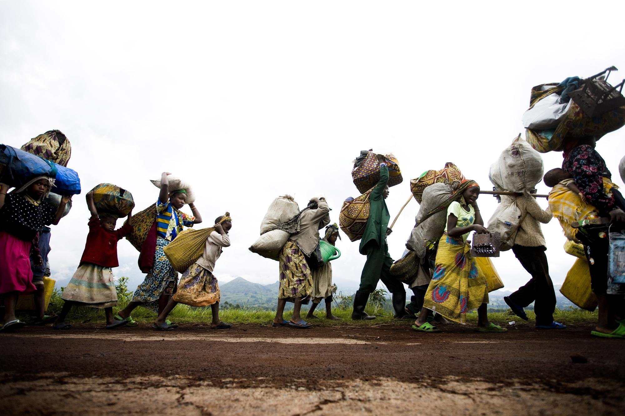 Refugees in Kibumba in eastern Congo