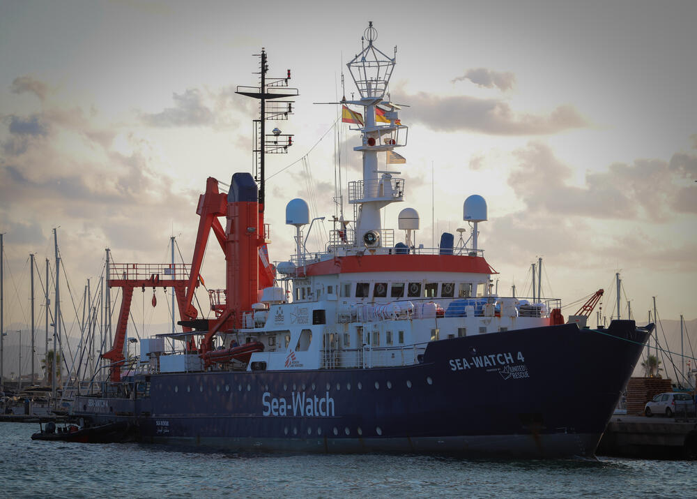 The Sea-Watch 4 in the port of Burriana