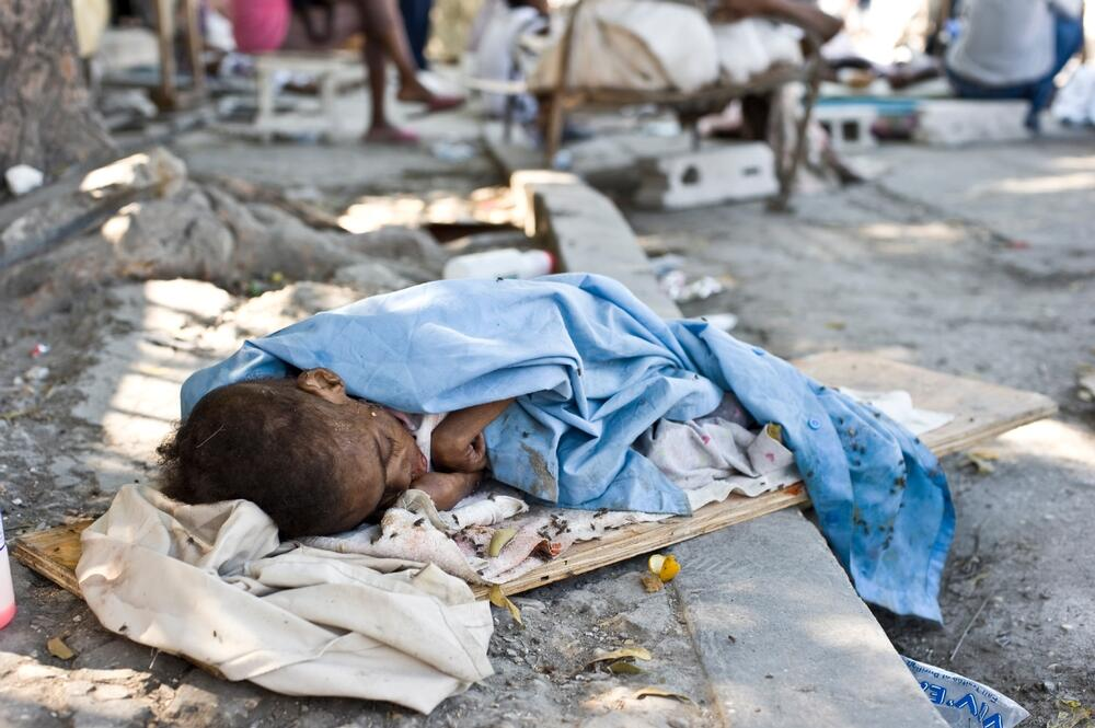 La Trinité, makeshift hospital