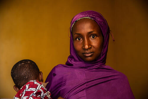 Salamatou, a displaced mother – Besson, Central African Republic, 13 March 2020