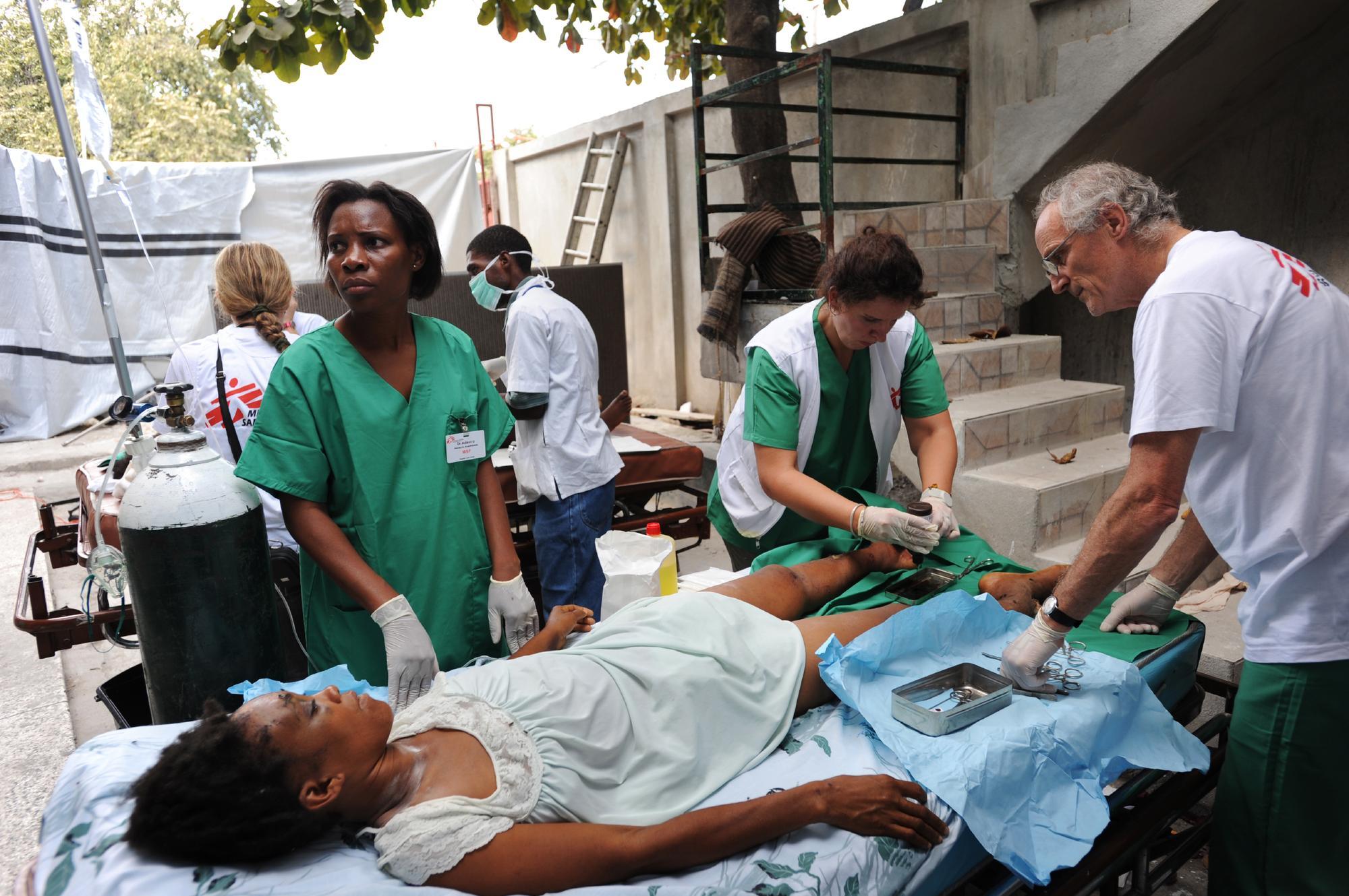Carrefour makeshift hospital