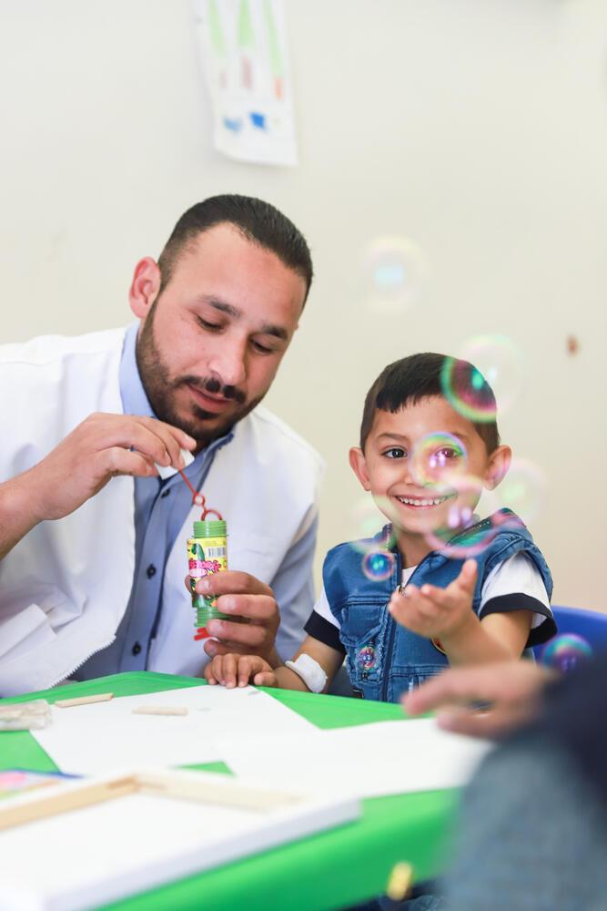 Kids' Zone at MSF Thalassemia programme