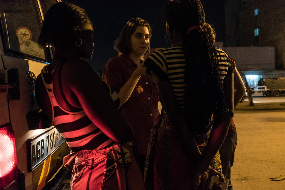 An MSF HIV night clinic in Beira, Mozambique