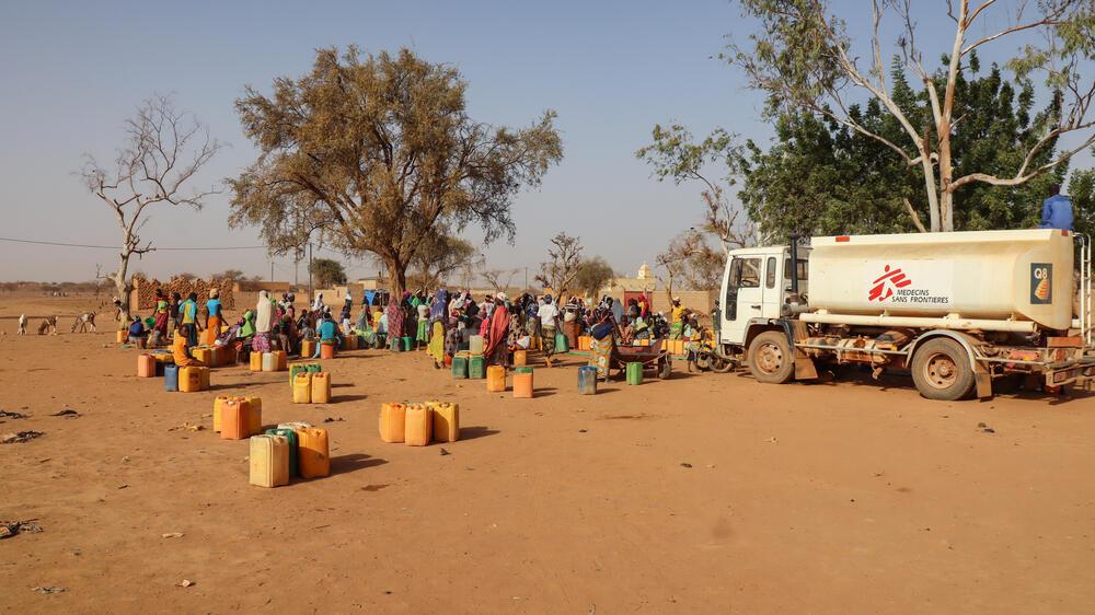 Water distribution sites in Djibo