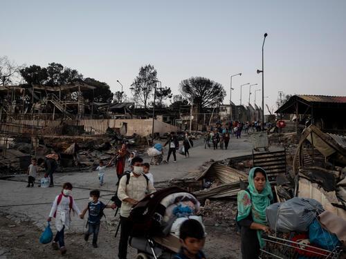 Leaving Moria refugee camp – Lesvos, Greece, 9 September 2020