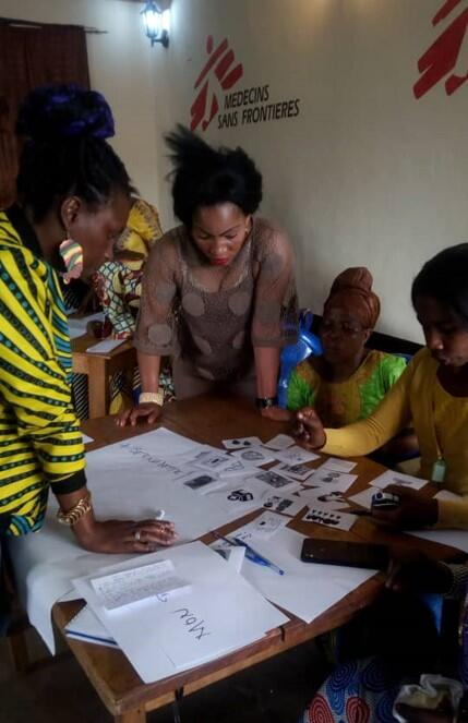 MSF colleagues in Bukavu work together on the pilot project