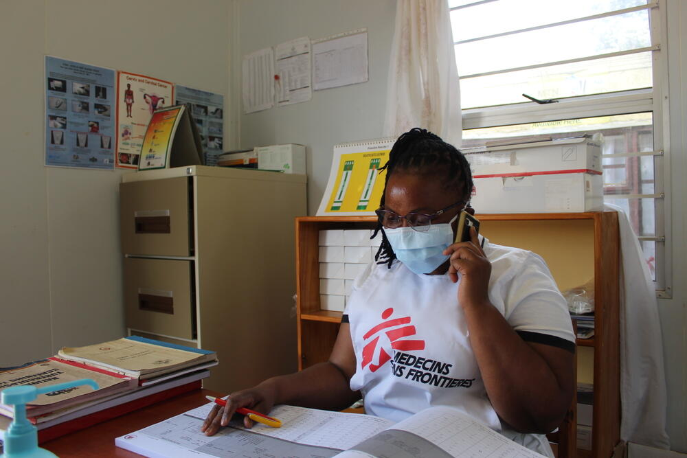 MSF counsellor, fixed clinic in Shiselweni