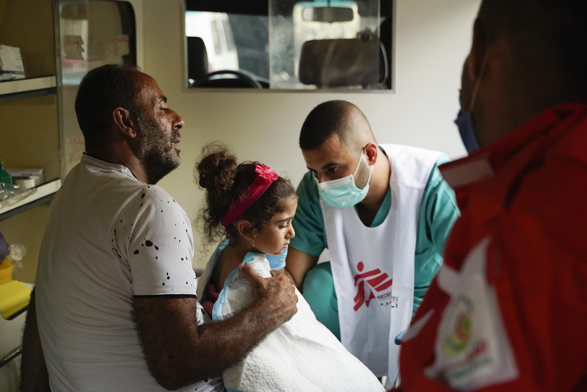 MSF has established emergency medical points in Beirut, treating patients injured in the huge explosion that hit large parts of